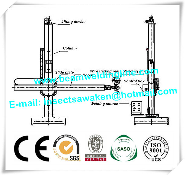 Automatic Pipe Welding Column and Boom Manipulator For Pressure Vessel