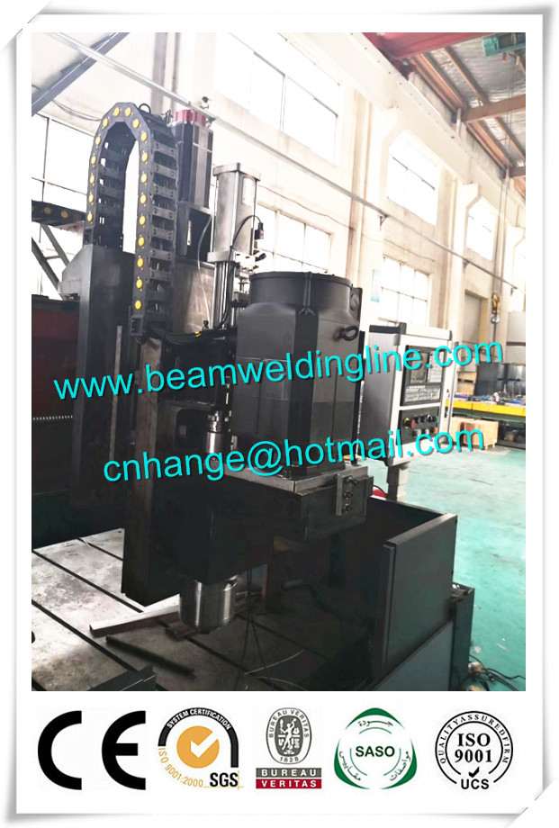 Automatic Cnc Steel Plate Drilling Machine , H Beam Production Line Welding Beam
