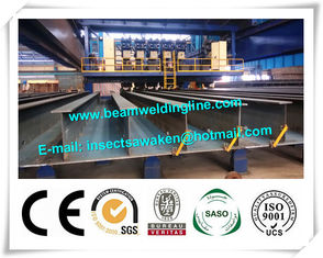 China Crane Type H Beam Welding Line , Shipbuild Longitudinal Pole Automatic Welding Equipment supplier