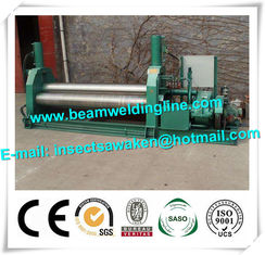 3 Roller Hydraulic Symmetrical Plate Rolling Machine For Shipbuilding / Petroleum