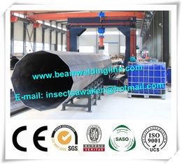 China Street pole assembling machine for wind tower production line , Heavy light pipe welding machine supplier