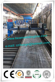 China Light H Beam Production Line , Steel Conatruction H Beam Welding Line supplier
