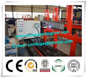 China Corrugated Web H Beam Production Line , Truck Panel Corrugated Plate Welding Machine supplier