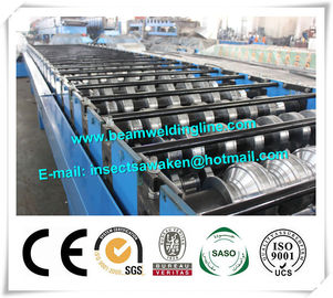 Metal PU Sandwich Panel Production Line Steel Floor Decking Forming Machine
