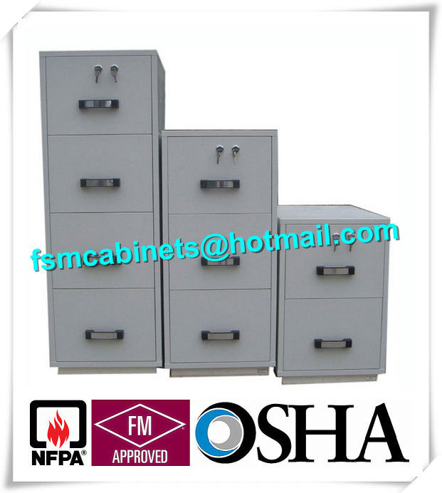 Steel 4 Drawers Fire Resistant File Cabinets Fireproof File