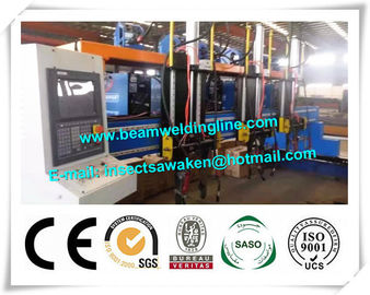 China H beam welding line for steel bridge , Steel construction bridge rib assembling and welding machine distributor