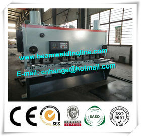 China QC11Y-6x3200 Hydraulic Guillotine Shearing Machine , NC Hydraulic Swing Shearing Machine distributor