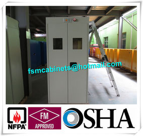 China Fire Resistance Gas Cylinder Storage Cabinet , Gas Detector Industrial Safety Cabinet distributor