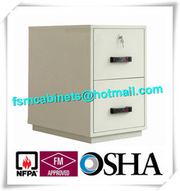 China Waterproof Fire Resistant File Cabinets , Fire Safe File Cabinet With 2 Drawer distributor