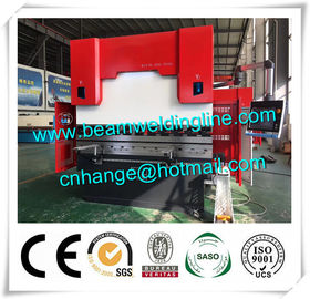China WC67Y 300t / 3200 Hydraulic Press Brake Machine , Steel Bending Machine Delem System distributor