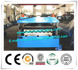 China Metal PU Sandwich Panel Production Line Steel Floor Decking Forming Machine distributor